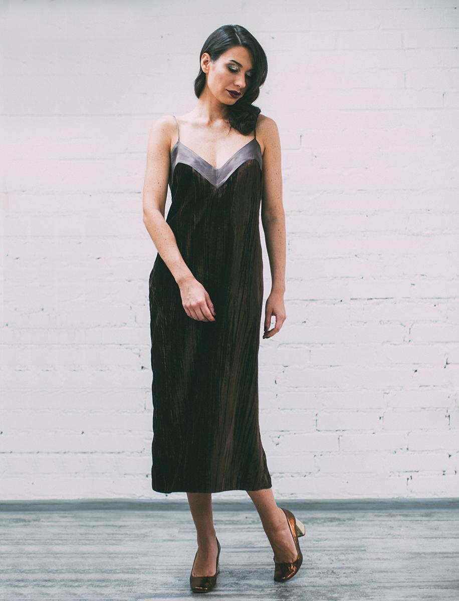 Купить бархатное платье комбинация